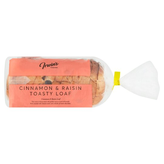 Irwin's Together Cinnamon & Raisin Toasty Loaf 450G