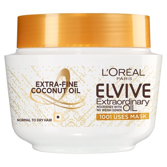 L Oreal Elvive Coconut Oil Mask 300ml Tesco Groceries