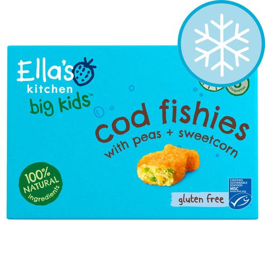 Ella's Kitchen Big Kids Cod Fishies With Vegetable 200G