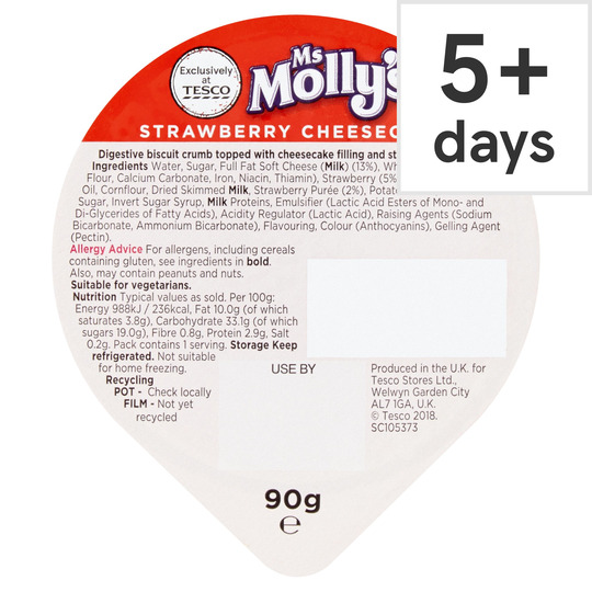 Ms Molly's Strawberry Cheesecake 90G