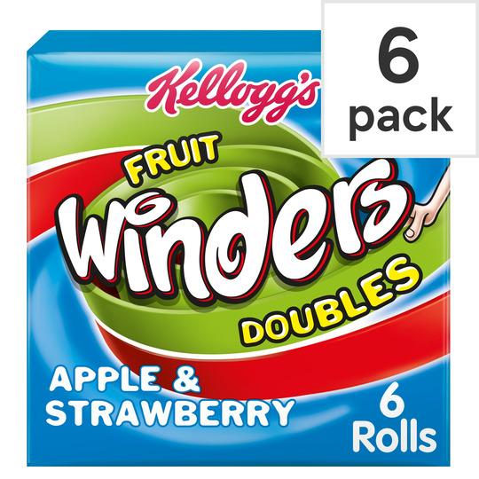 Kellogg's Duo Fruit Winders Apple & Strawberry 6 Pack