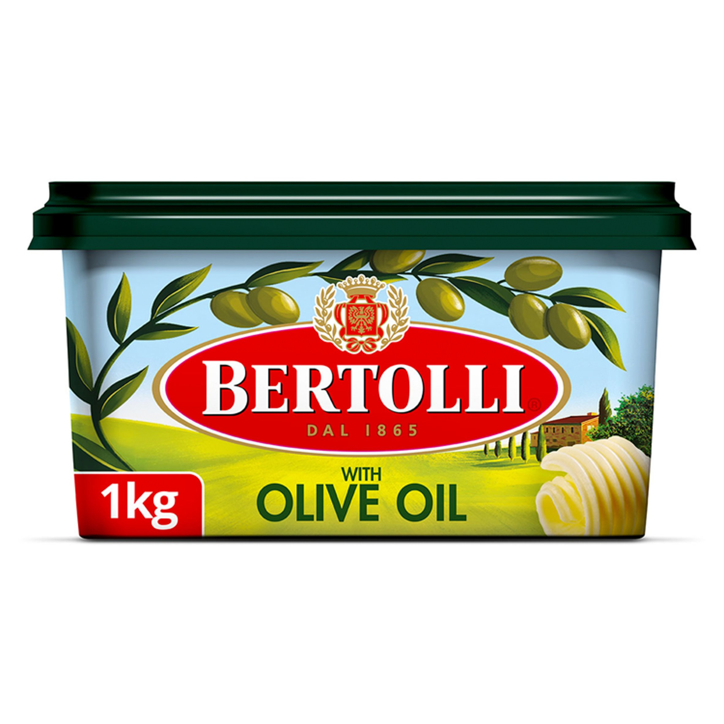 Bertolli Vegetable Fat Spread With Olive Oil 1Kg