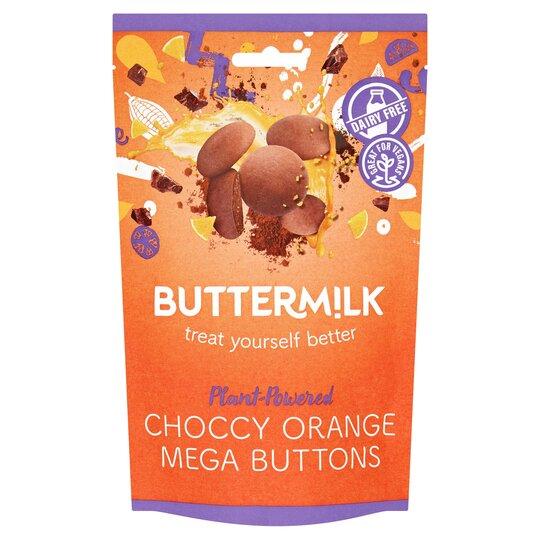 Buttermilk Choccy Orange Mega Buttons 100G