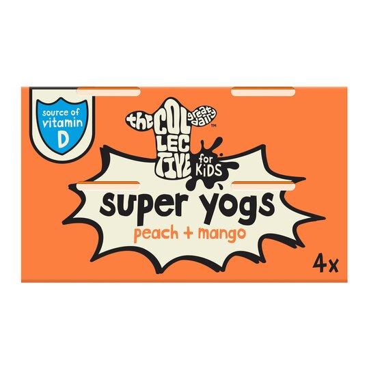 The Collective Kids Super Yogurt Peach Mango 4X85g