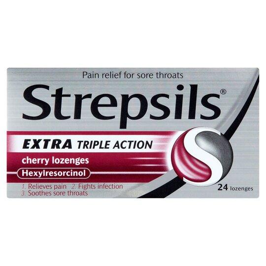 image 1 of Strepsils Extra Cherry 24'S