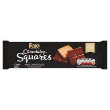 image 1 of Fox's Chocolatey Squares Milk Chocolate 125G