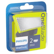 image 2 of Philips Oneblade Qp220 Replacement Blade Twin Pack