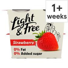 image 1 of Light & Free Greek Style Strawberry Yogurt 4X115g