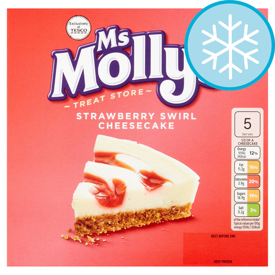 Ms Molly's Strawberry Swirl Cheesecake 375G