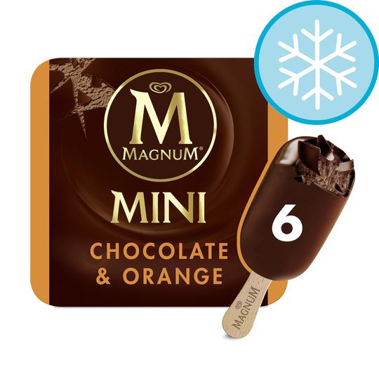 image 1 of Magnum Mini Chocolate & Orange Ice Cream 6X55ml