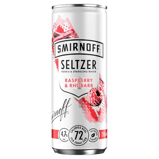 Smirnoff Seltzer Raspberry & Rhubarb 250Ml