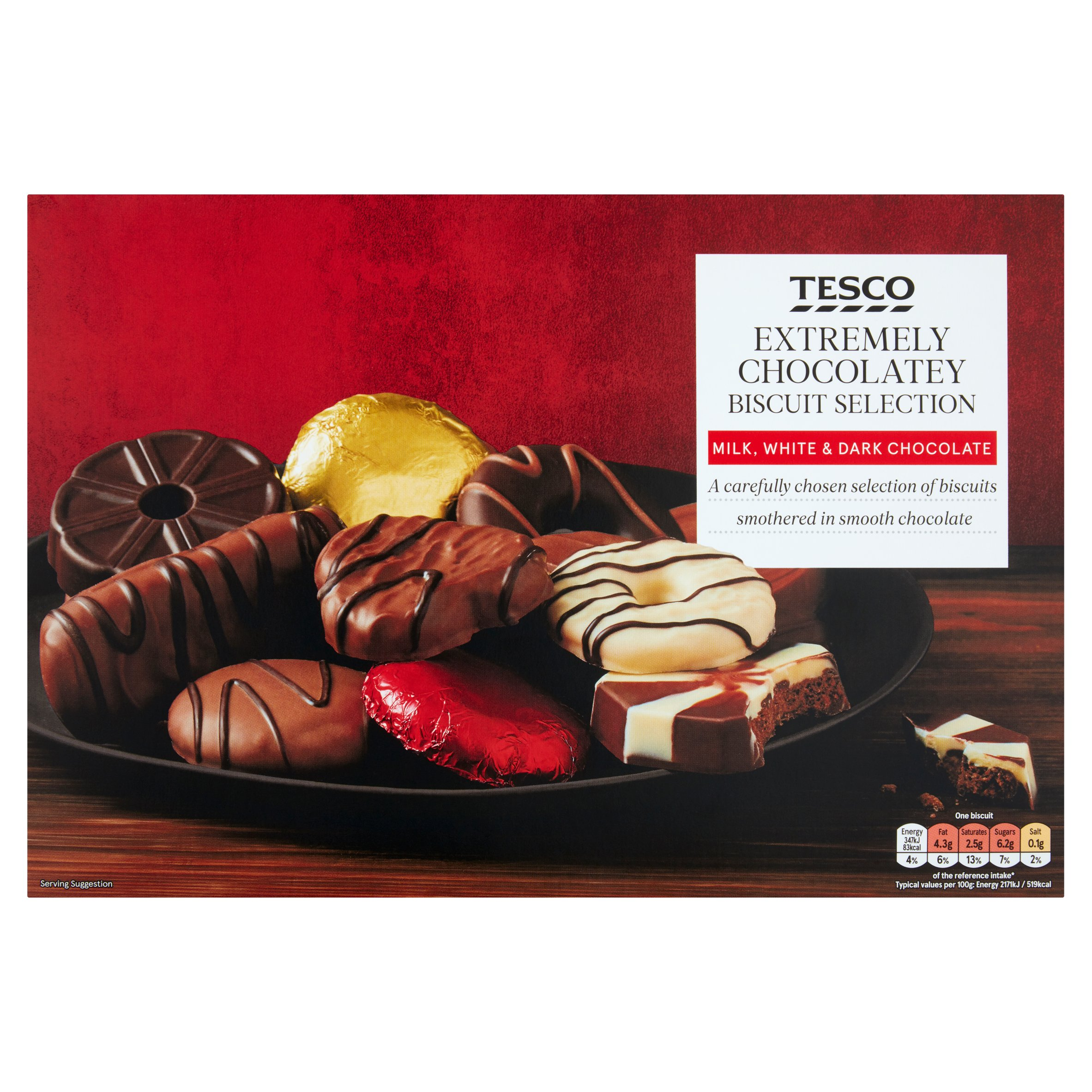 Tesco Chocolatey Biscuit Selection 450G