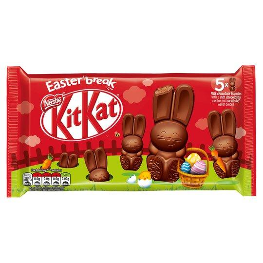 Nestle Kit Kat Milk Chocolate Bunny Multipack 145G