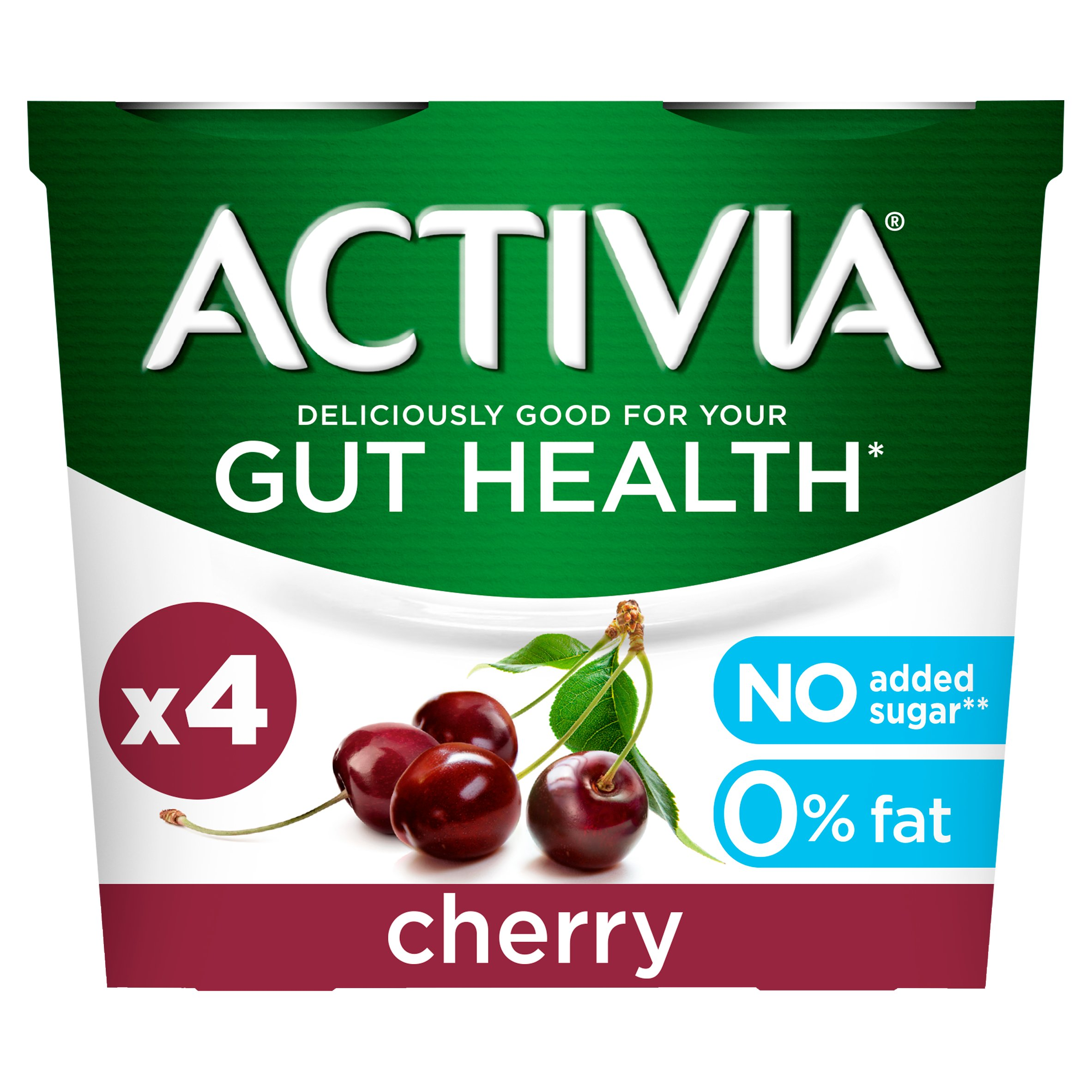 Activia Yogurt No Added Sugar Cherry 4X115g