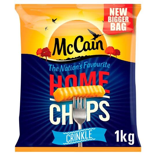 Mccain Crinkle Cut Home Chips 1Kg