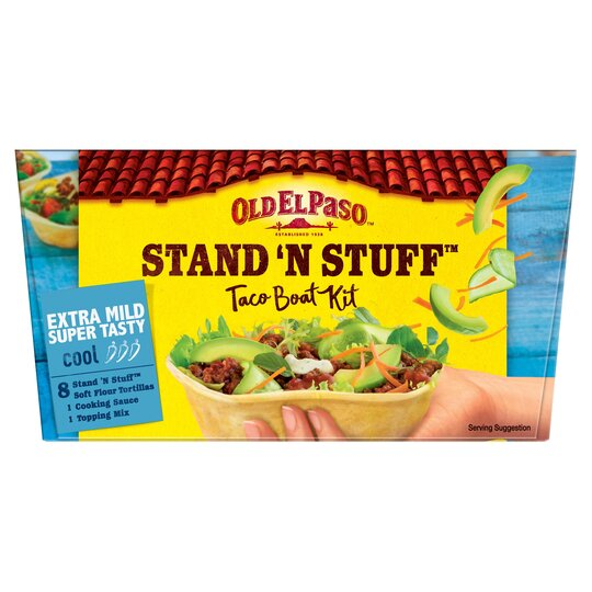 Old El Paso Extra Mild Stand N Stuff Soft Taco Kit 329g Tesco Groceries