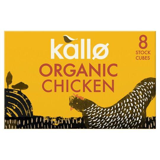 Kallo Organic Chicken Stock Cubes 8Pk 88G