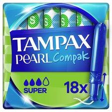 image 1 of Tampax Pearl Compak Super Applicator Tampons 18