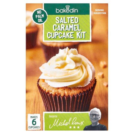 Bakedin Salted Caramel Cupcakes Kit 375G