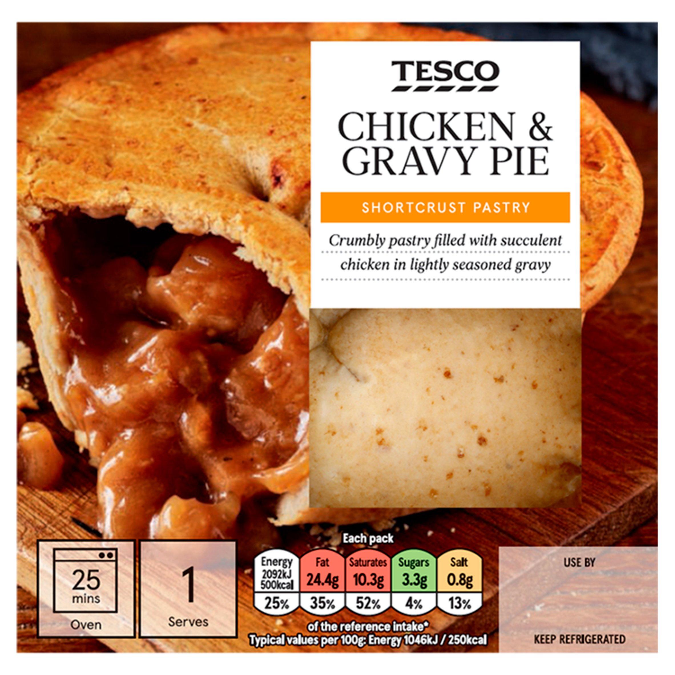 Tesco Chicken & Gravy Shortcrust Pie 200G