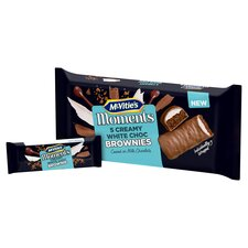 image 2 of Mcvitie Moments White Chocolate Cream Brownies 5 Pack