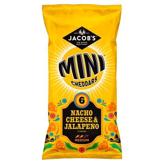 Jacob's Mini Cheddars Nacho Cheese & Jalapeno 6X25g
