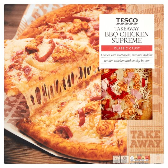 Tesco Takeaway Bbq Chicken Supreme Pizza 882g