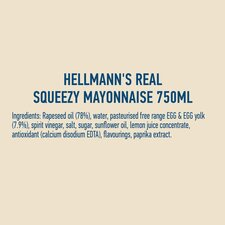 image 2 of Hellmann's Real Squeezy Mayonnaise 750Ml