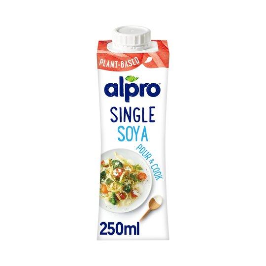 image 1 of Alpro Soya Single Chilled Soya Alternative To Cream 250Ml