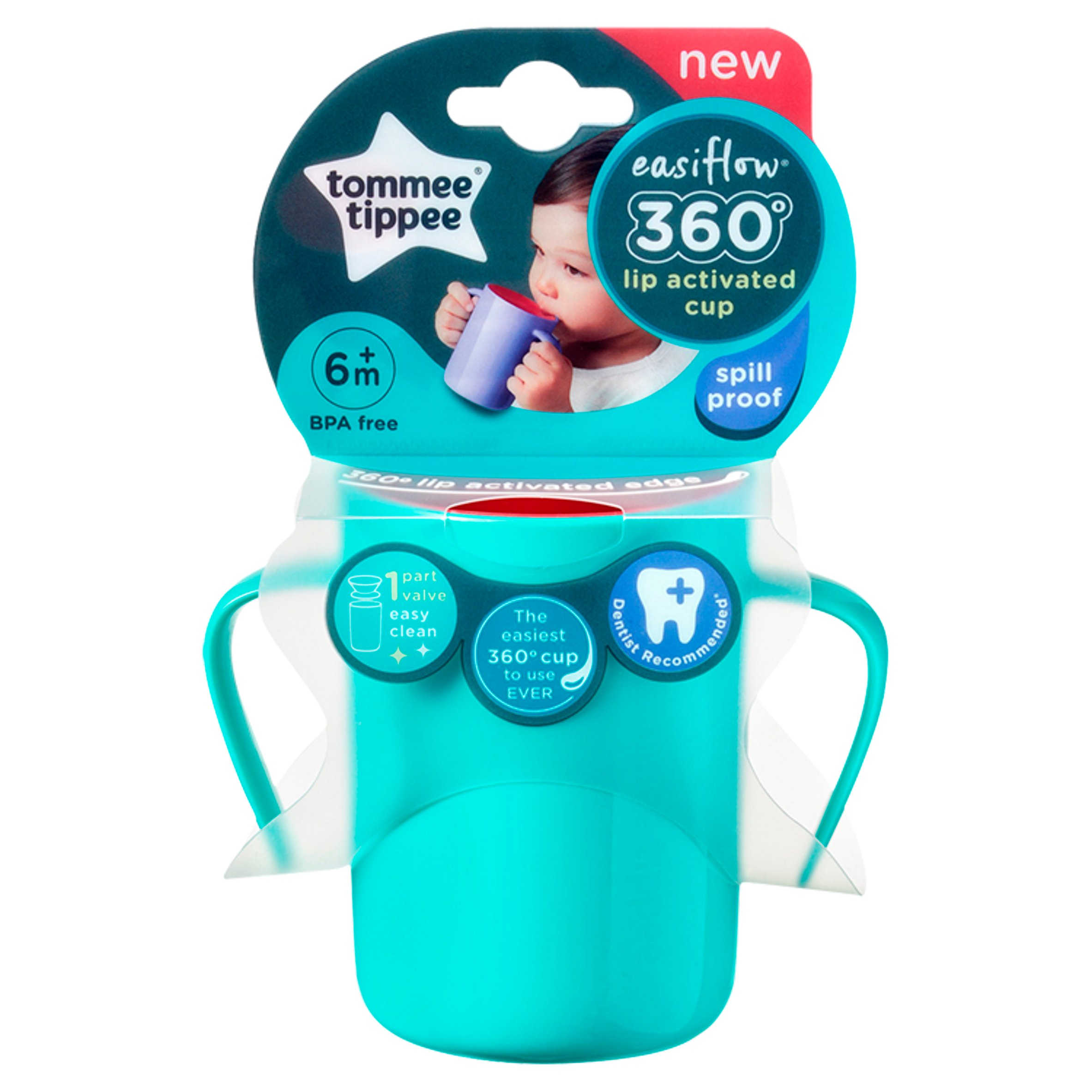 Tommee Tippee 360 Handled Cup 6M+