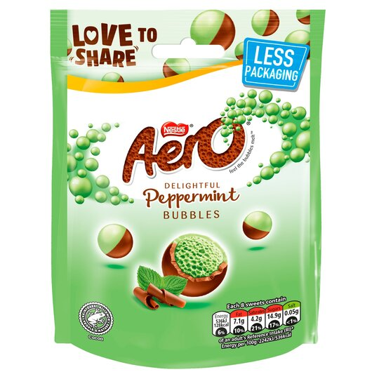 Aero Milk Chocolate Peppermint Bubbles 92G