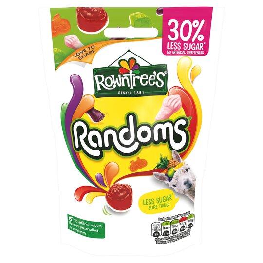 Rowntree's Randoms 30% Less Sugar Pouch 110G