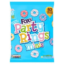 image 1 of Fox's Mini Party Rings 120G