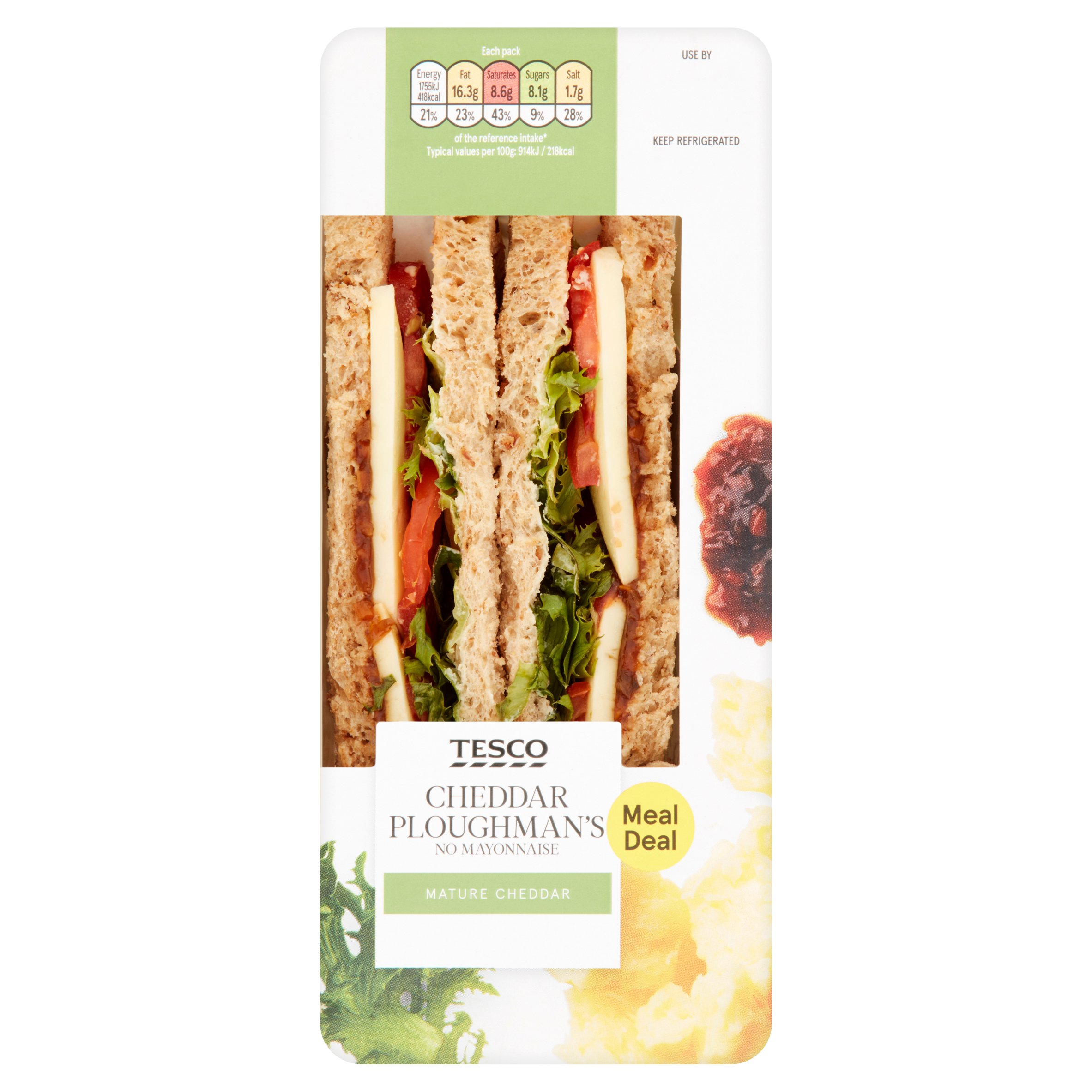Tesco Ploughmans Sandwich
