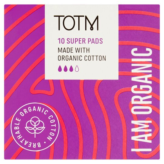 Totm Organic Cotton Super Pads 10S