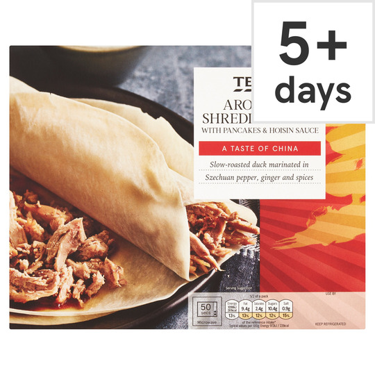 Tesco Aromatic Shredded Duck Pancakes 230g Tesco Groceries