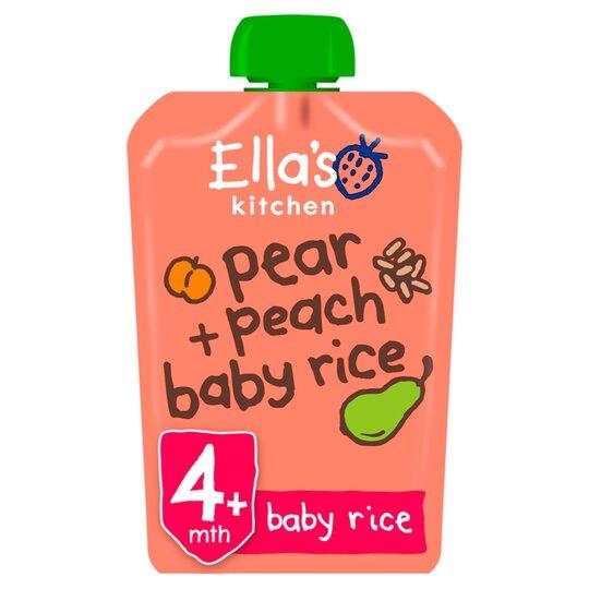 Ella's Kitchen Peaches Pears Plus Baby Rice Stage 1 X 120G