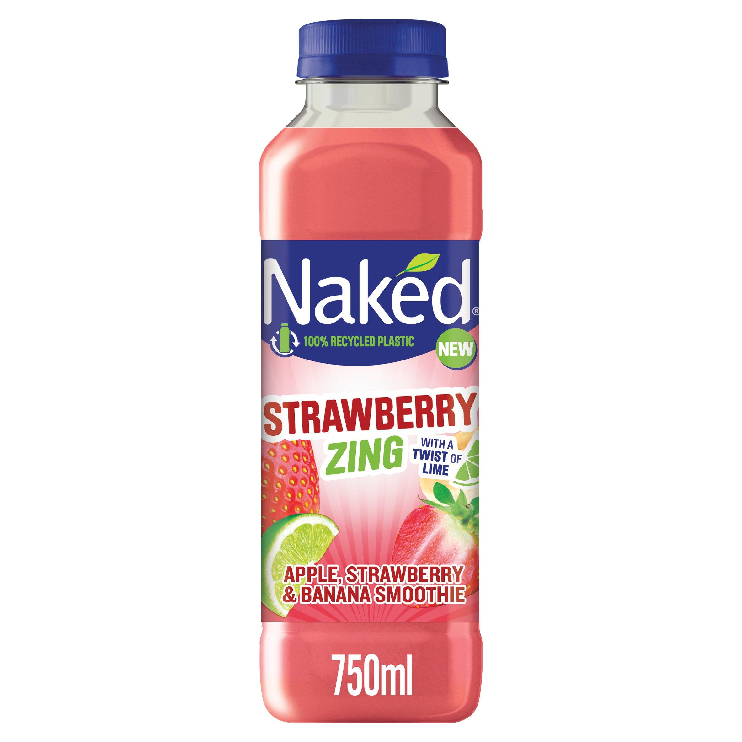 Naked Strawberry Zing Smoothie 750Ml