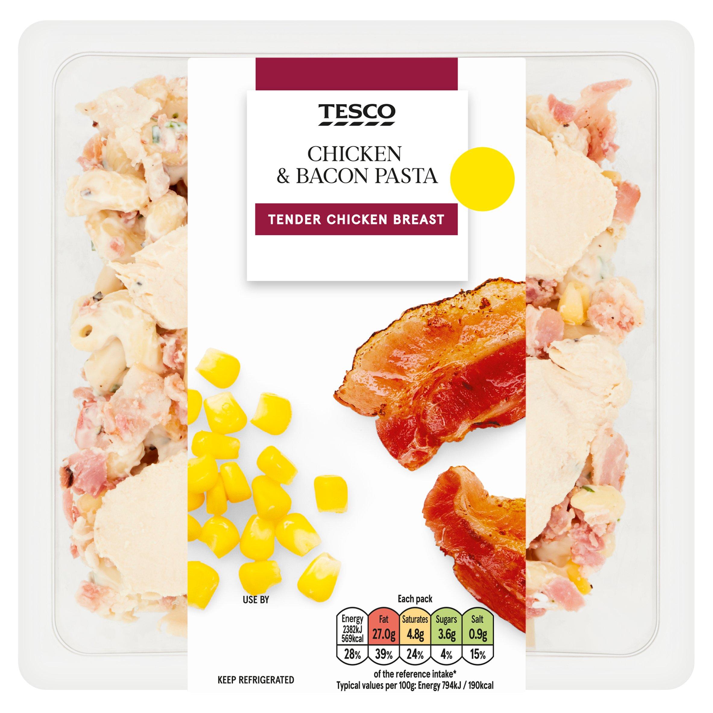 Tesco Chicken & Bacon Pasta 300G