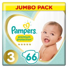 image 1 of Pampers New Baby Size 3 Jumbo Pack 66 Nappies