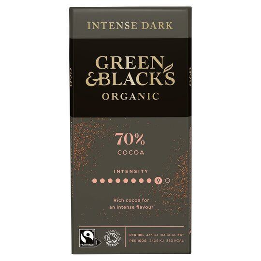 Green & Blacks Organic Dark 70% Chocolate 90G