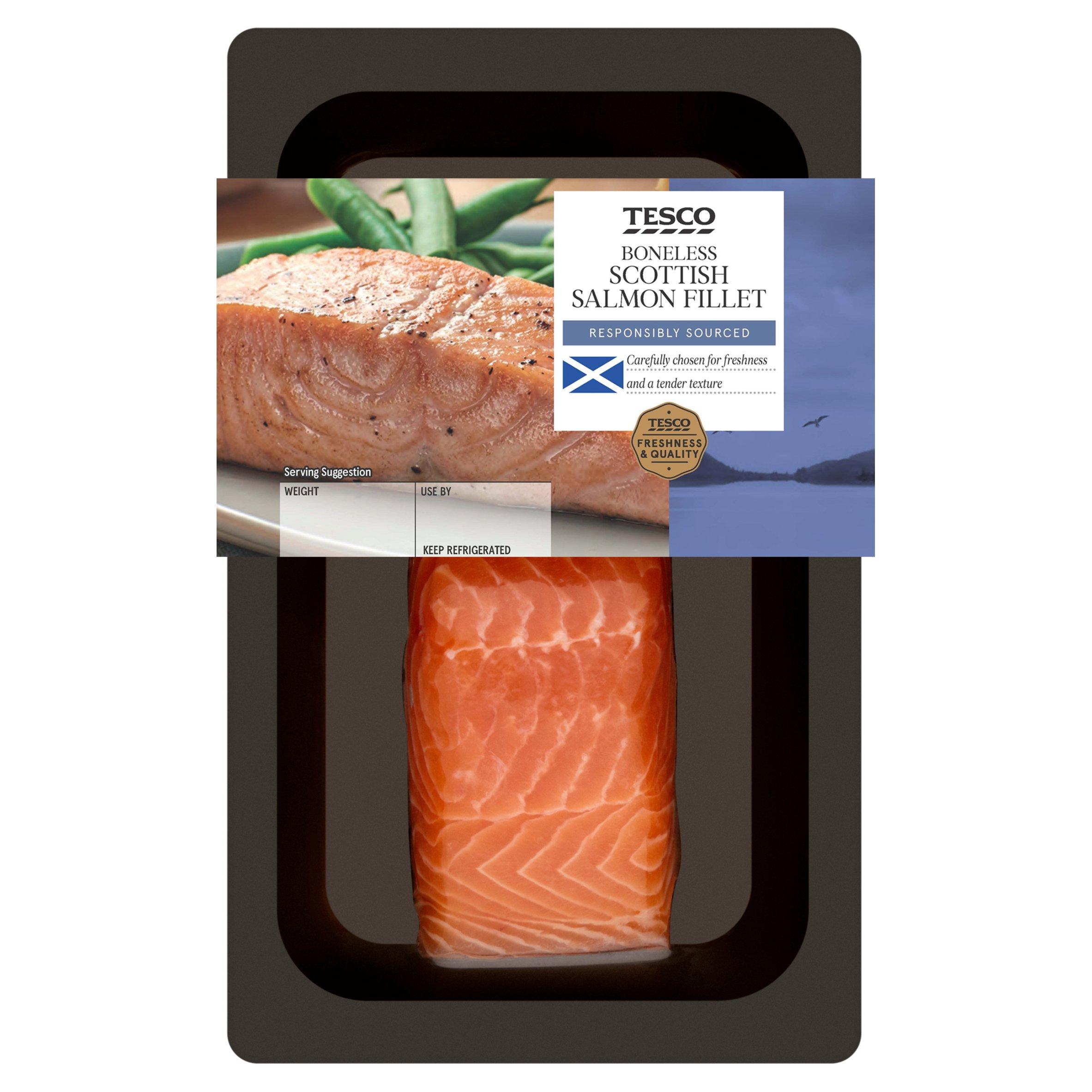 Tesco Boneless Salmon Fillet 130G