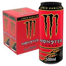 image 1 of Monster Lewis Hamilton Energy Drink 4X500ml