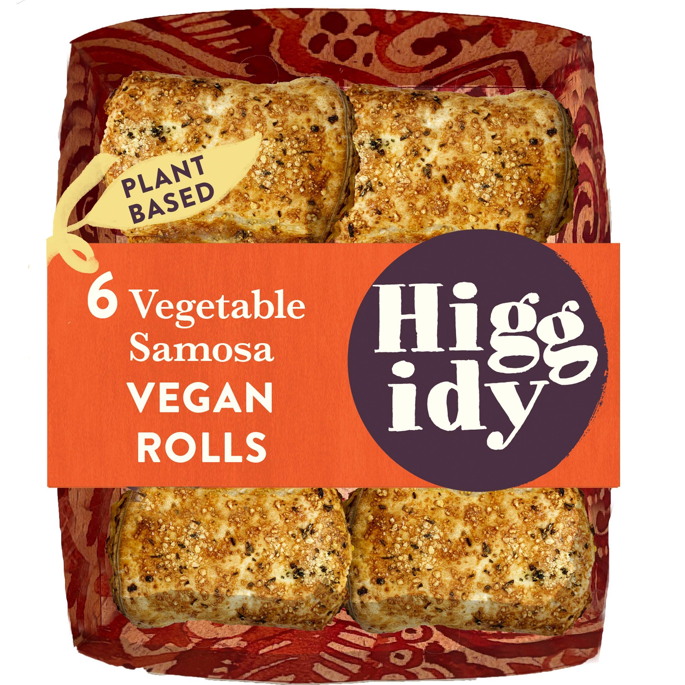 Higgidy Vegetable Samosa Vegan Rolls 160G
