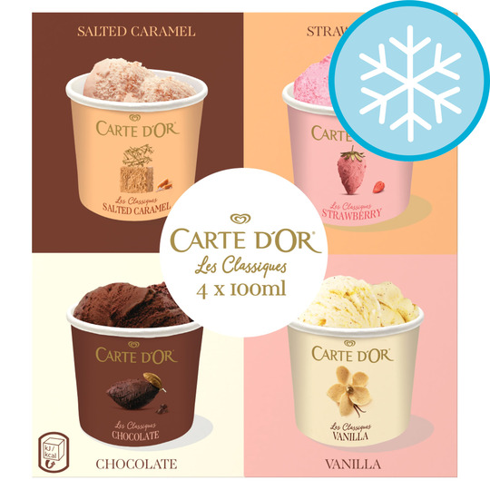 Carte D'or Classics Multipack Ice Cream 4 X 100Ml