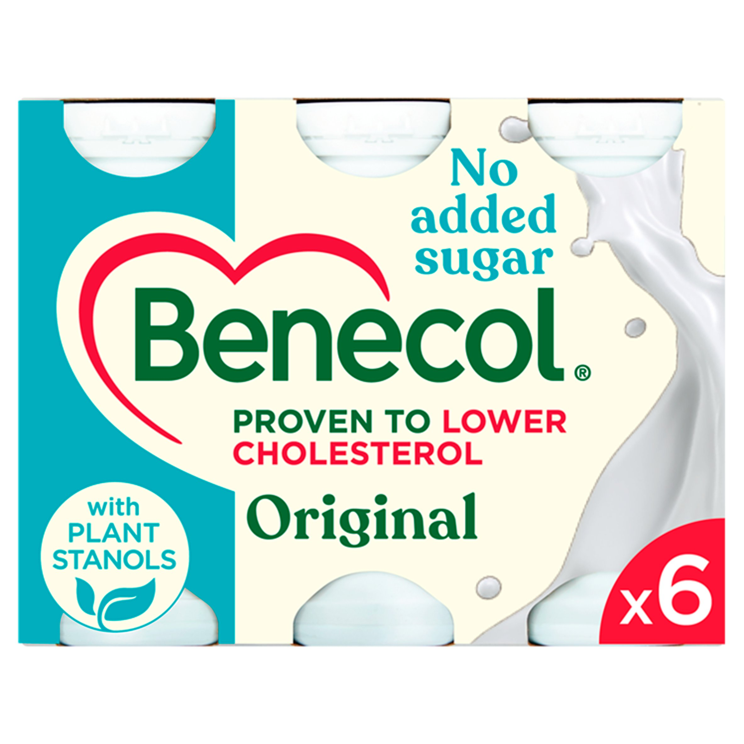 Benecol Light Natural Yogurt Drink 6 X 67.5G