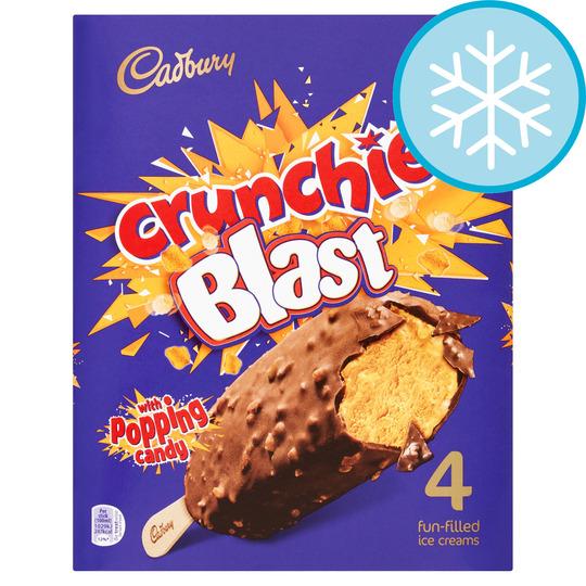 Cadbury Crunchie Blast Stick 4X100ml