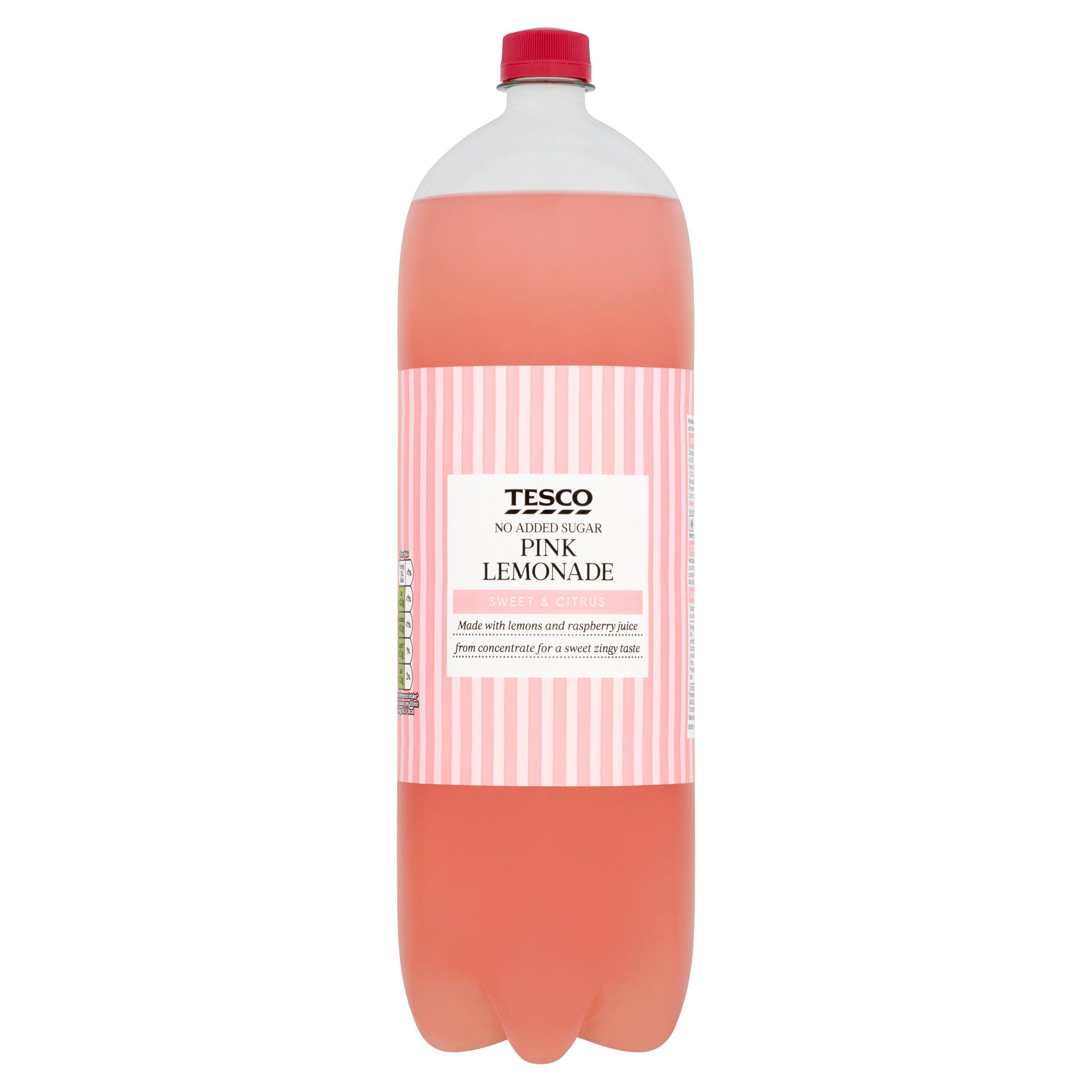 Tesco No Added Sugar Pink Lemonade 2L