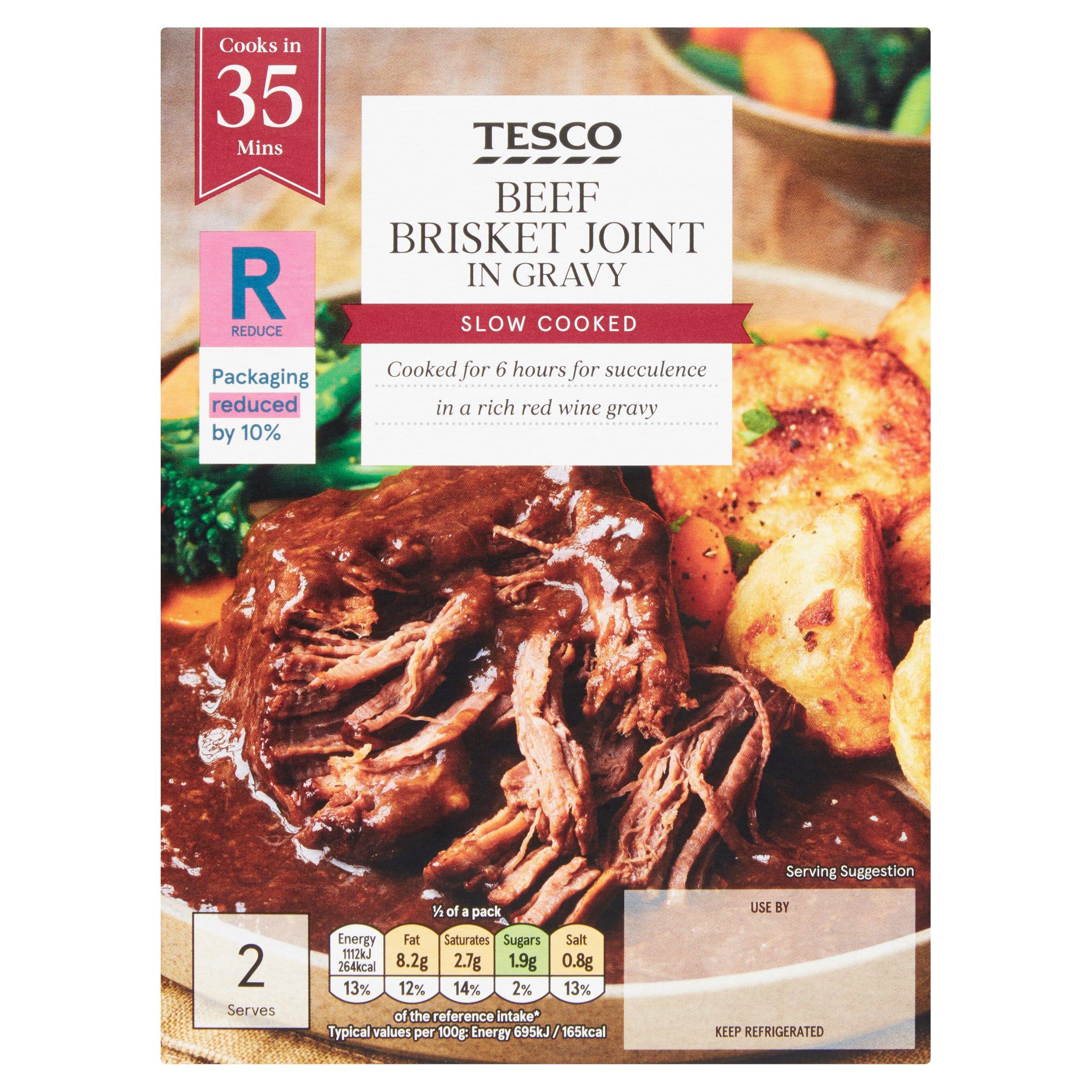 Tesco Beef Brisket Joint In Gravy 380G