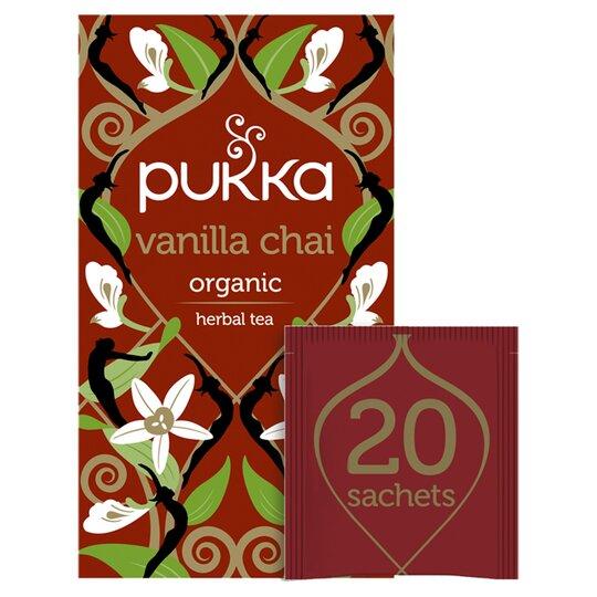 Pukka Organic Fair Trade Vanilla Chai 20 Tea Bags 40G